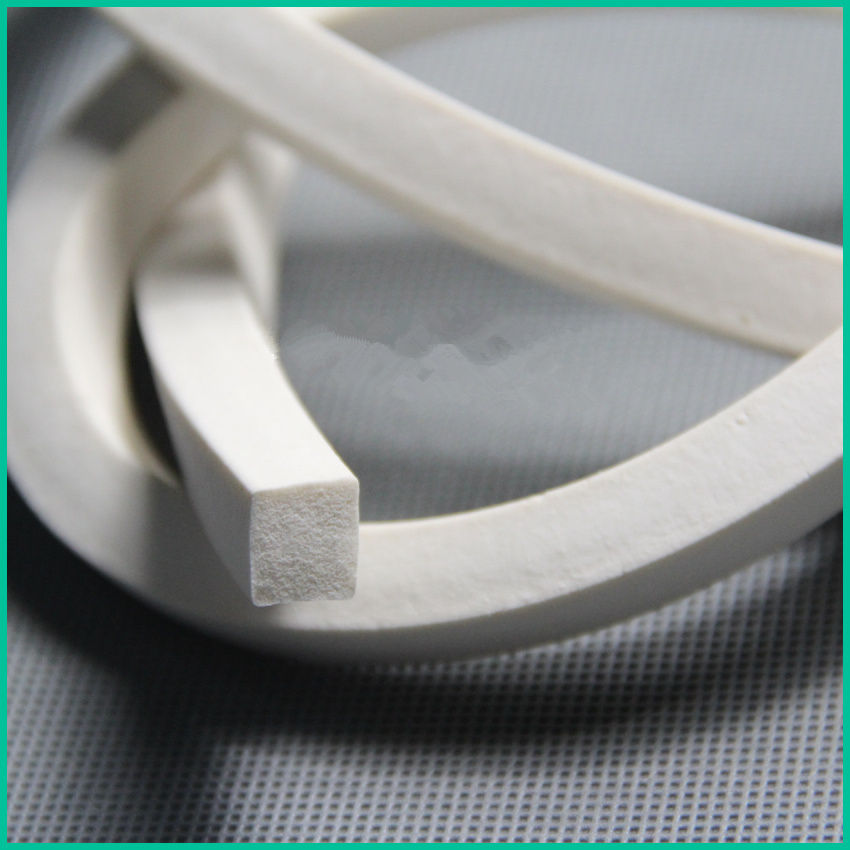 1PCS SF024  SIZE 4*4mm Sponge Silicone Sealing strip  Silicone Foam Length 1meters Anti-slip waterproof heat-resistant