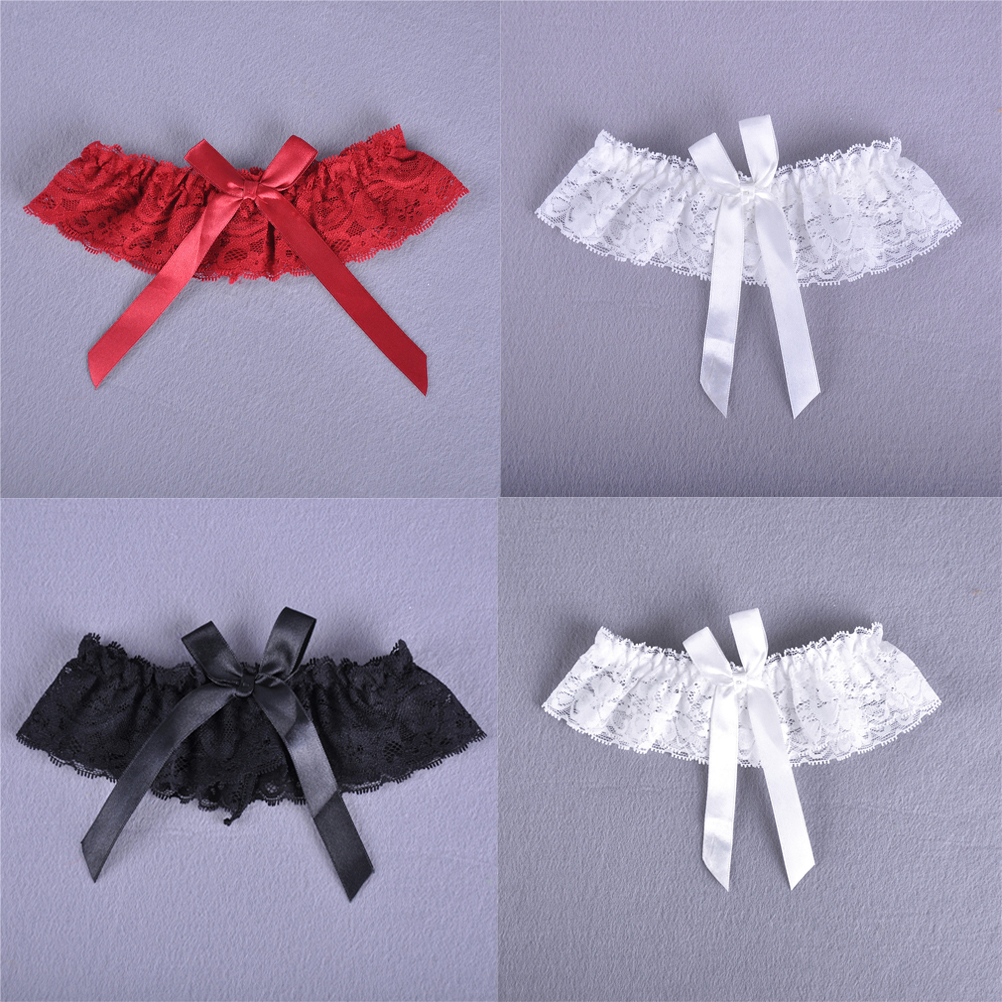 1pc <font><b>Sexy</b></font> Women Girl Wedding Party Lace Floral Bowknot Bridal Lingerie <font><b>Cos</b></font> Leg Garter Belt Suspender image