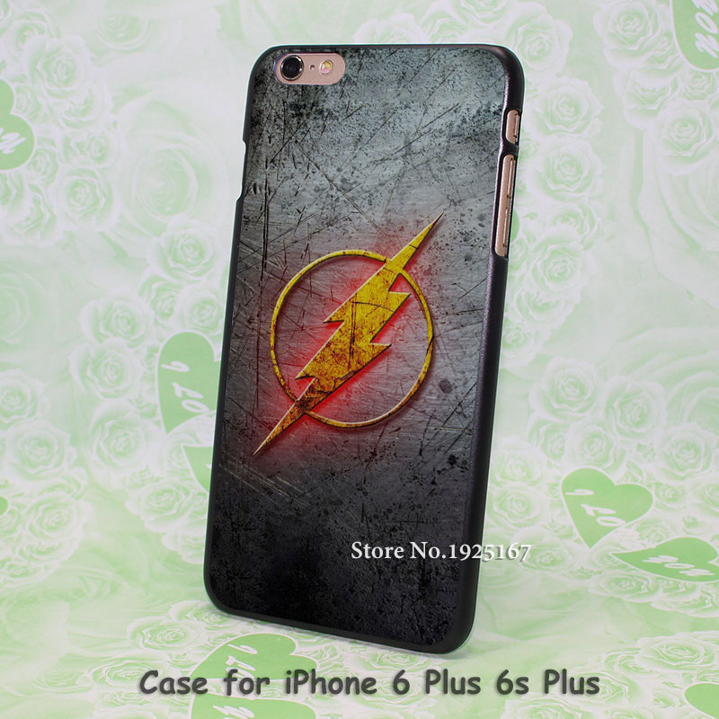 flash tv series The Flash log Pattern hard black Case Cover for iPhone 4 4s 5 5s 5c 6 6s 6 Plus 6s Plus