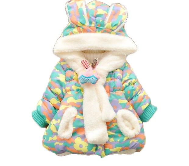 Новый девочка 6 месяцев до 24 месяцев одежды kids fashion зимние меховые теплые зимние детские девушки куртка