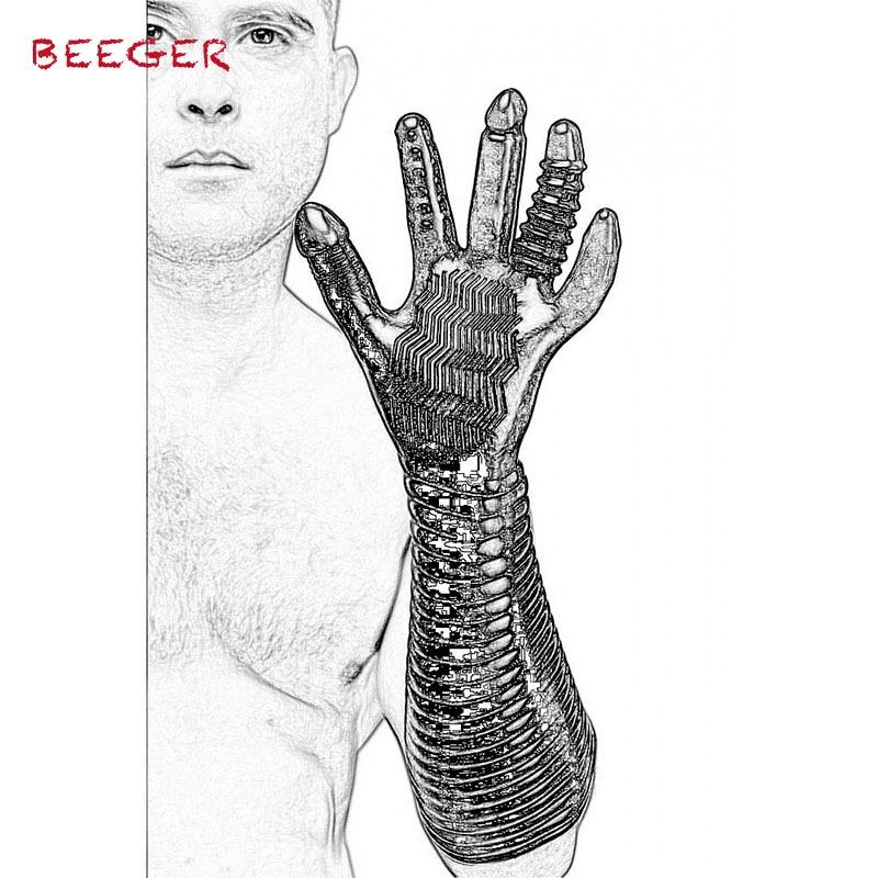 BEEGER Pleasure Fister Textured Fisting Glove,Magic Palm Hand Masturbation Sex Glove.Massage Glove Couple Adult Games Flirting
