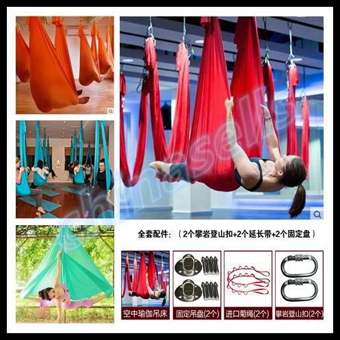 6 M aérea pilates yoga hammock yoga Inversão balanço trapézio rede anti-gravidade Ferramenta cinto trecho corda equipamento de fitness