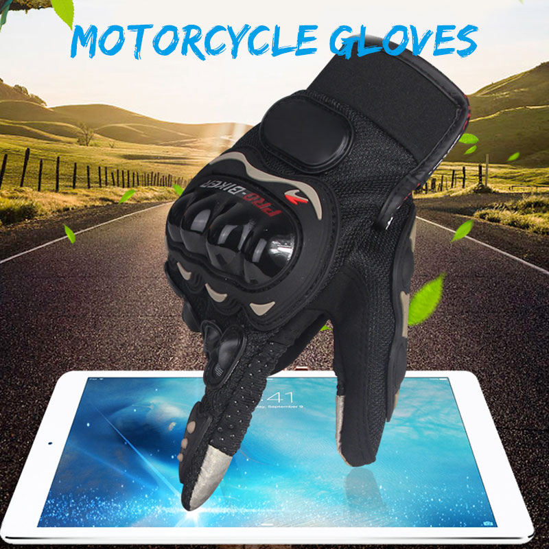 Vehemo A Pair Full-Finger Motorcycle Gloves Riding Gloves for Motorcycle Anti-Slip Outdoor Bicycle for Sports