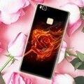 Para huawei p9 lite y3ii y5ii y6ii cubierta case softlyfit modelada relieve accesorio del teléfono de tpu case para huawei honor 5 honor 5a