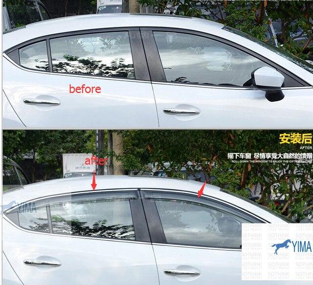 Для Mazda 3 AXELA Седан 2014-2016 Окно Ветер Дефлектор Козырек Дождь Гвардии Vent Козырьки Навесы