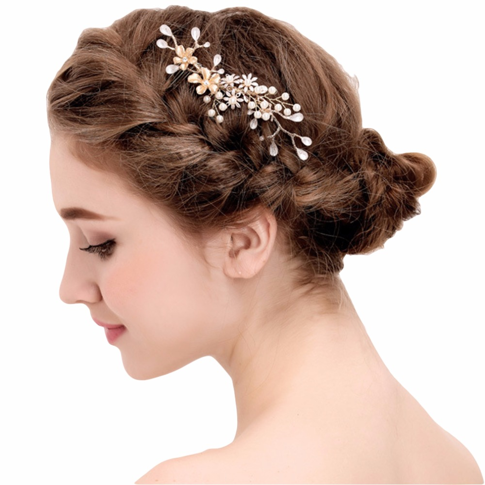yazilind crystal peral with comb bridal hair accessories