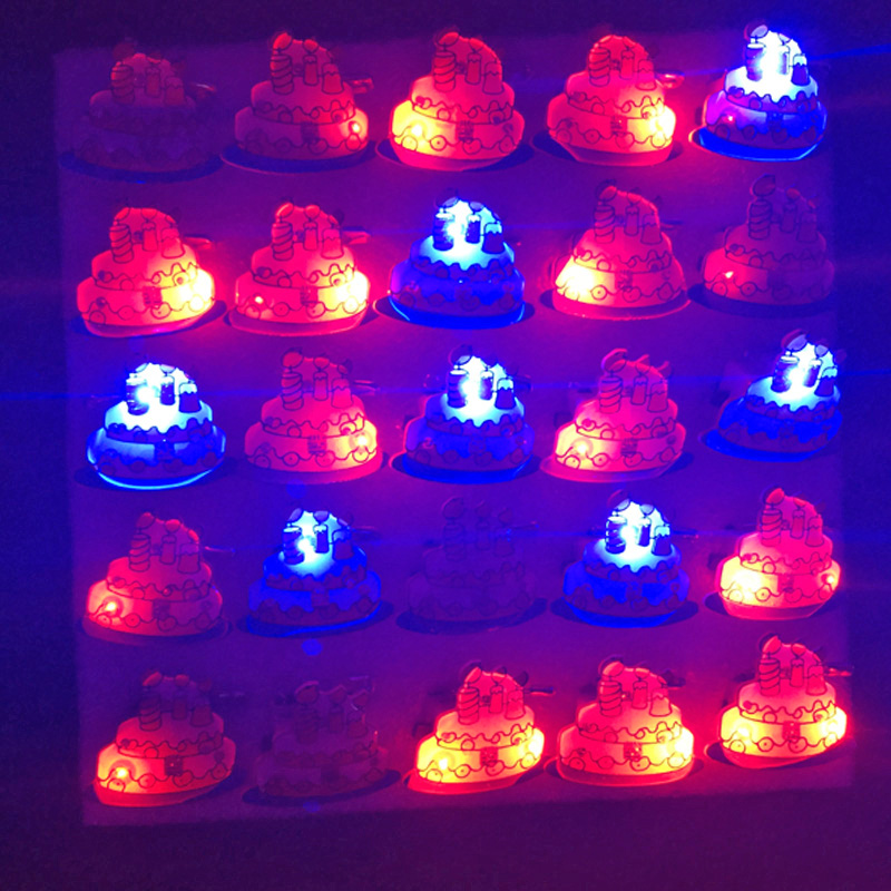 Pleasant Glow Light Up Luminous Flash Child Led Toy Birthday Cake Brooch Funny Birthday Cards Online Eattedamsfinfo