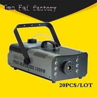 20 шт./лот remote или провод управления LED 900 Вт дым машина/RGB Изменить цвет туман машина/профессиональные дым кузов с выталкивателем/Stage оборудов