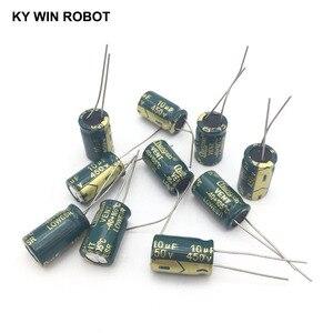 Image 5 - 10 adet Alüminyum elektrolitik kondansatör 10 uF 450 V 10*17mm frekuensi tinggi Radyal Elektrolitik kondansatör