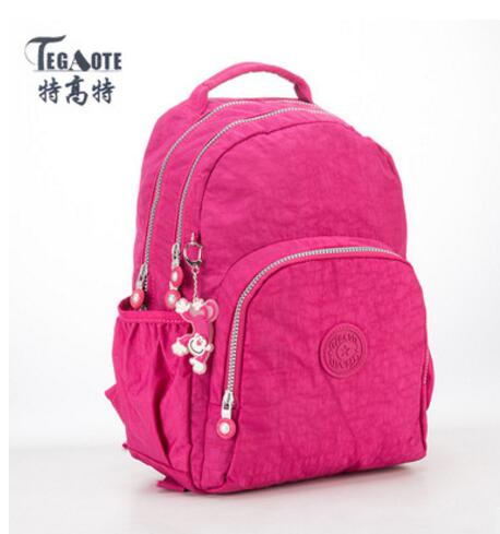 TEGAOTE Backpack for Teenage Girls Mochila Feminine Cute Backpack Female Solid Famous Casual Women Travel Bagpack Sac A Dos 361 kajie pu skin leather large capacity student fashion women backpacks for teenage girls sac a dos travel feminine bag mochila