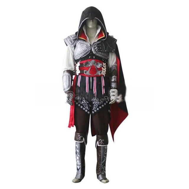 Assassin's Creed II Ezio Auditore da Firenze Black Edition Cosplay costume  Halloween Christmas role-playing