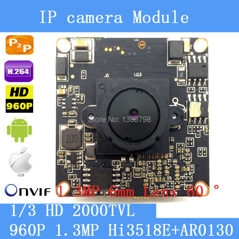 1.3 Megapixel IP Camera Module Board 1280*960P CCTV Camera IP Chip Board 1.3MP 6mm Lens Pinhole Camera Mobile Phone View1.3 Megapixel IP Camera Module Board 1280*960P CCTV Camera IP Chip Board 1.3MP 6mm Lens Pinhole Camera Mobile Phone View