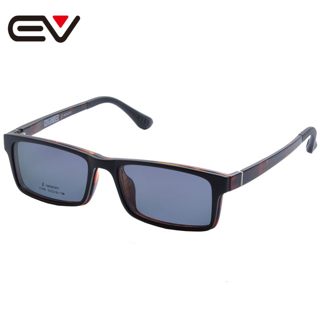 2016 Fashion Glasses With Magnetic Clip On Sunglasses Myopia Driving Glasses Polarized Sunglasses Clip On Dual Purpose EV1406