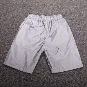 Image 4 - Erkekler rahat tam yansıtıcı hip hop şort gece kulübü dans kısa pantolon spor erkek moda parlak şort bermuda masculino 3XL