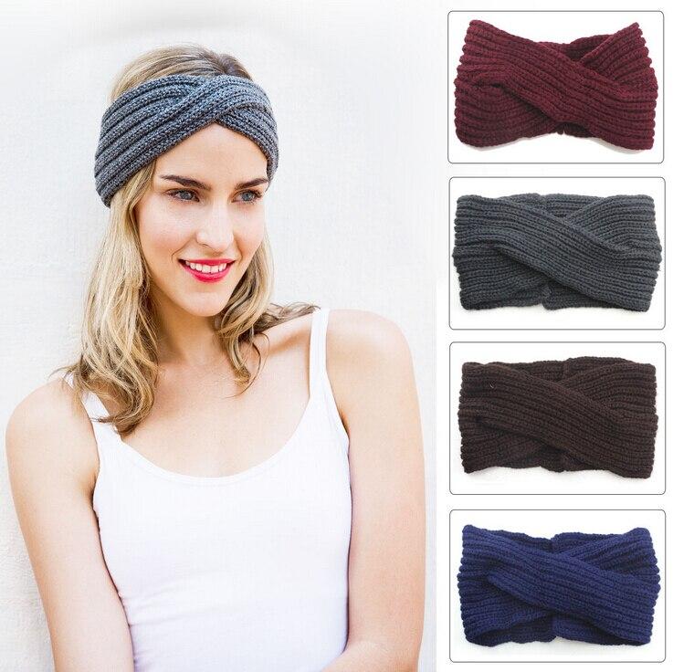 ᗔ2015 nuevo invierno 100% hecho a mano de punto headwrap del knit ...