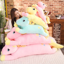 Hot 2020 New Lovely Large Unicorn Plush Toys stuffed animal horse sleeping pillow girls birthday gift home decor