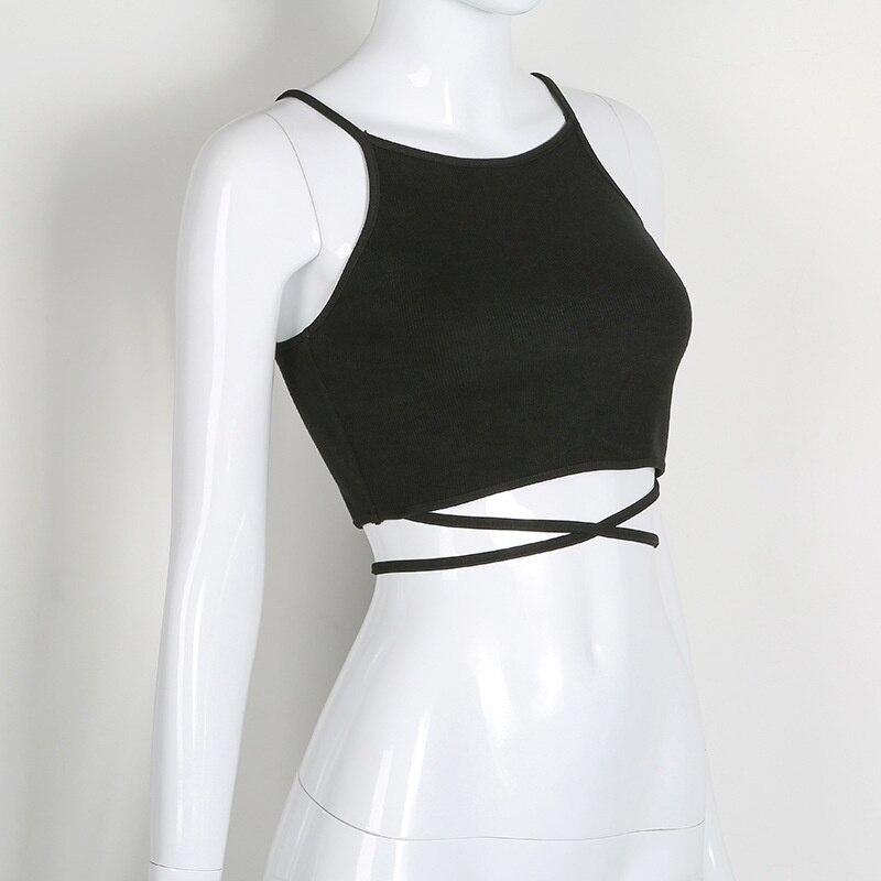 HTB1V2GjRVXXXXa4apXXq6xXFXXXt - FREE SHIPPING Women Sleeveless Sexy Bandage T Shirt Top JKP143
