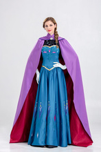 Halloween Costume Adult Long Section With Cloak Ice And Snow Angela Anna Princess Dress
