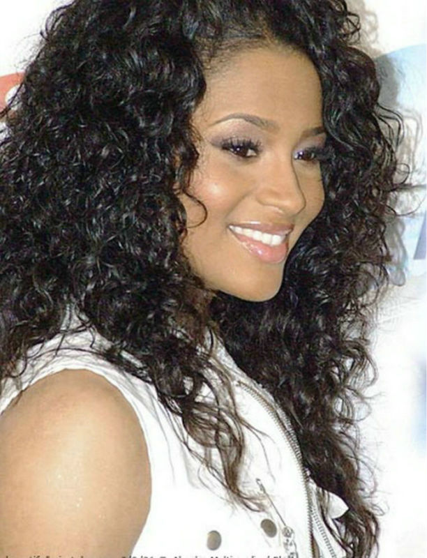 Ciara Hair Style Black Curly Human Hair Lace Front Wig In Human Hair