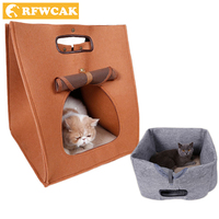 Pet Bed Warming Dog House Cat Litter Kennel Pets Heat Preservation House Foldable Environmental Protection Originality Pets Nest