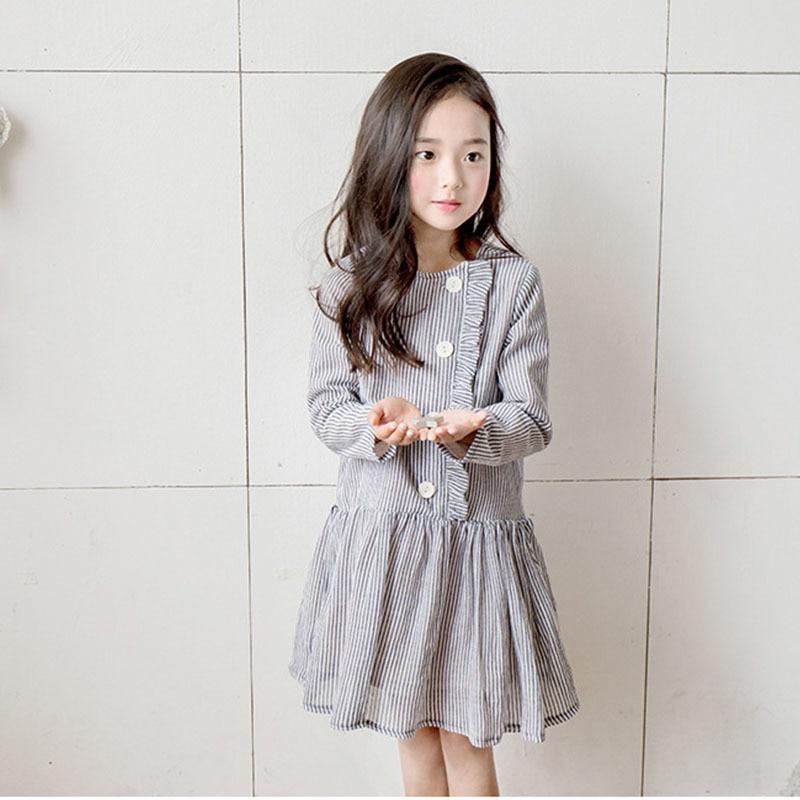 Школьные хлопковые платья для маленьких девочек весенняя одежда с длинными рукавами для больших детей осеннее платье для девочек 2019 одежда для мамы и дочки