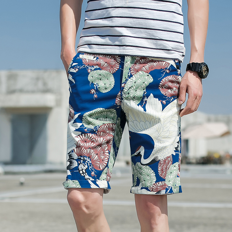 New casual shorts for summer 2018 printing bermudas Masculina for men Cargo Short Pantacourt Homme Pantaloncini Uomo