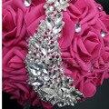 Ramos de Novia ramo de Novia de Cristal Con Cuentas de dama de Honor Buques Casamento Rhinestone Artificial flores de la boda ramos de novia