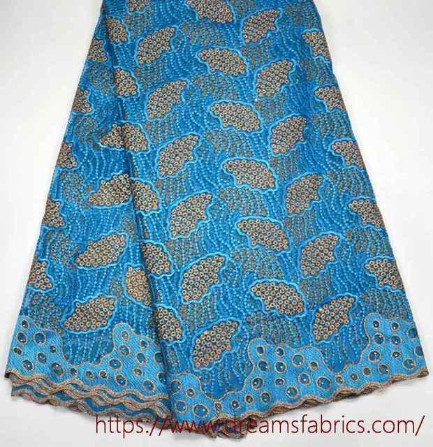 Última Africano azul Turquesa tulle Lace Tecido de Alta Qualidade Tule  Africano da Tela Do Laço 676d2d491f