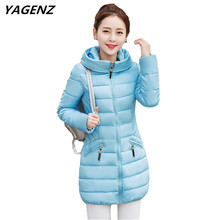 New Winter Women Cotton-padded Jacket Thick Warm Coat Hooded Casual Tops Plus Size Down Cotton Coat Women's Clothing YAGENZ K793