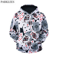 3D Hoodies Men Women Hooded Sweatshirt 2018 Funny Poker Printed Pullover Hoodie Men Harajuku Streetwear Hip Hop Sweat Homme 3XL