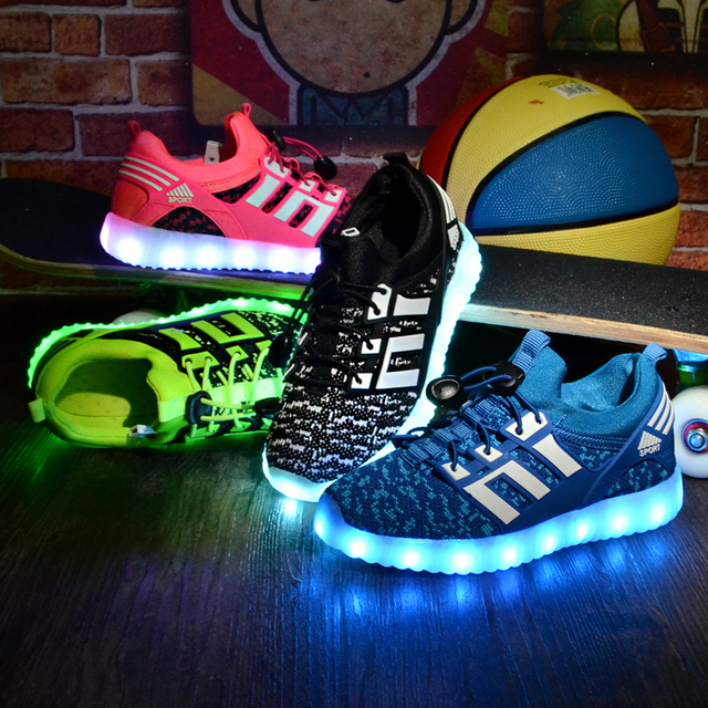 2016 Kids Shoes Boys Shoes Chaussure Enfant Glowing Sneakers