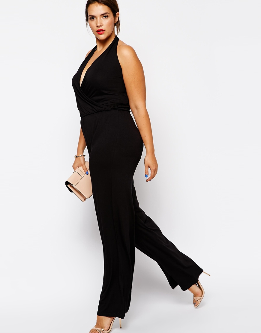 f36f3b2ade78f Plus Size Women Jumpsuits 6XL Sleeveless Women Rompers Black Halter  Jumpsuit Large Big Size Lady Summer Clothing 5XL 4XL Clothes-in Jumpsuits  from Women s ...