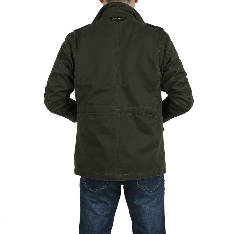 Erkek Kıyafeti'ten Ceketler'de Büyük boy L 8XL askeri ceket erkek obezite pamuk standı yaka mens dış giyim palto jaqueta masculina erkek ceket'da  Grup 3