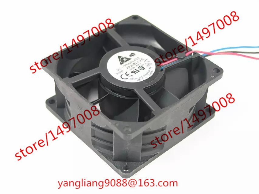 Free Shipping For DELTA AFB0824SHE, -AK41 DC 24V 0.50A 3-wire  70mm 80x80x38mm Server Square Cooling fan free shipping for delta pfb0848dhe ck2a dc 48v 1 00a 80x80x38mm 4 wire server square cooling fan