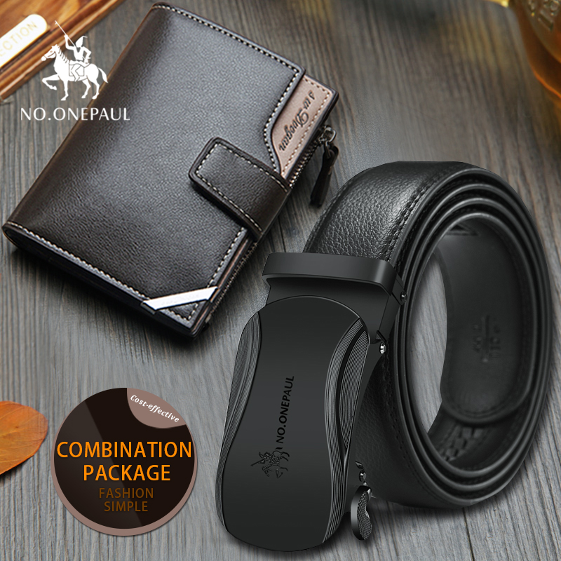 Set/sets Suit Belt Cowhide Genuine Leather Belts For Men Fashion, Beautiful, Good Quality And New Style Foldable Short  Purse