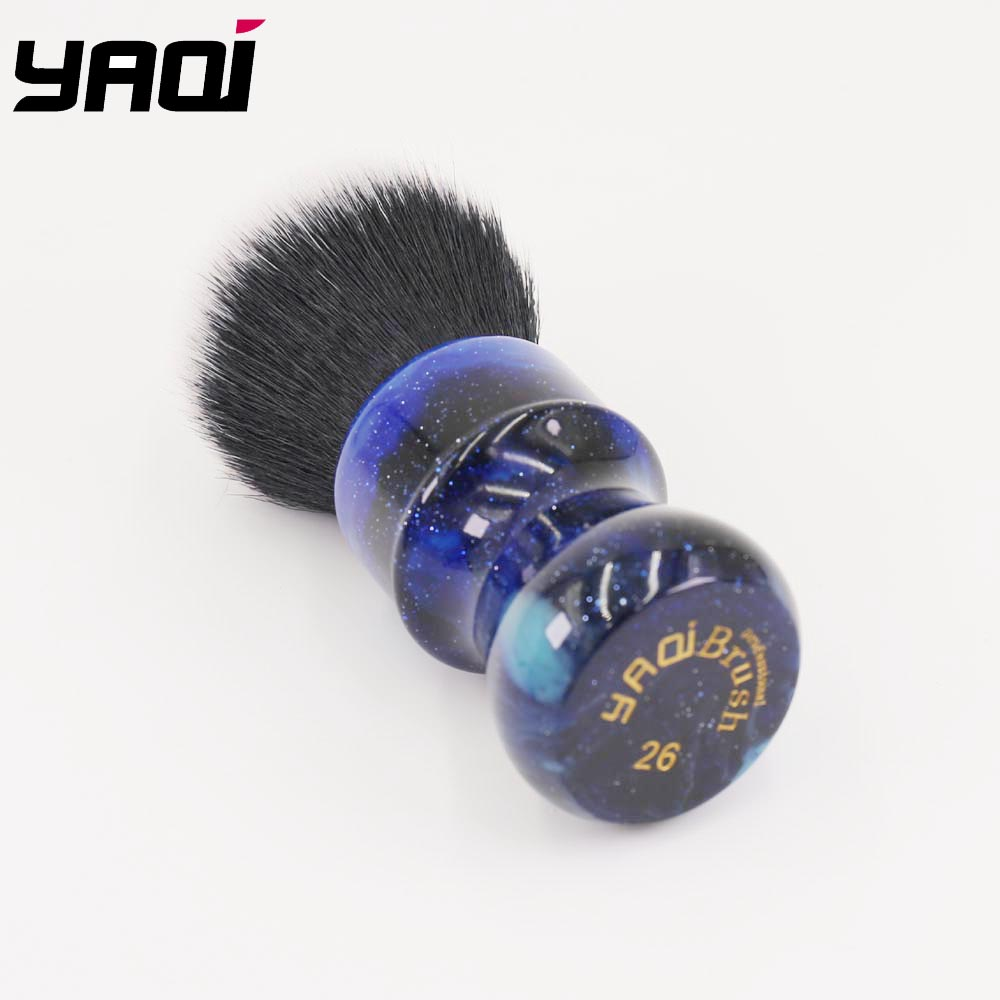 Image 4 - 26MM Yaqi Mysterious Space Color Handle Tuxedo Knot Men Shaving Brush-in Shaving Brush from Beauty & Health