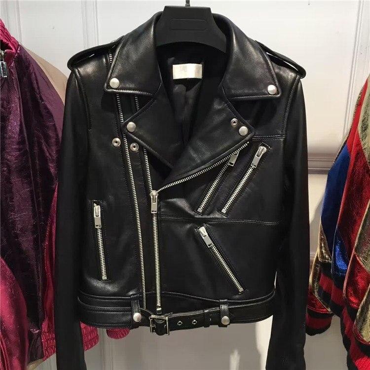 Dame en cuir de mouton naturel vêtement femmes en cuir véritable veste grande taille 5XL-in En cuir et Suède from Mode Femme et Accessoires    1