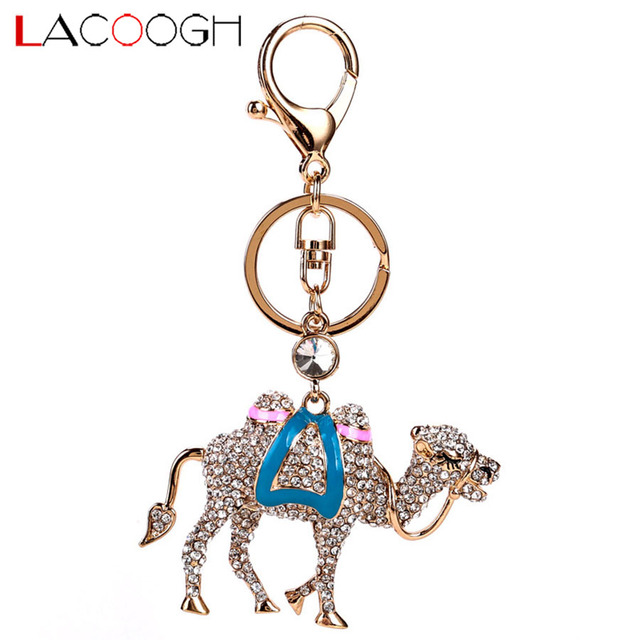 lacoogh Trendy Classic Crystal Keyrings Animal Camel Key Chains Long  Colorful Bohemian Oil Drop Keychains for 2199cd718