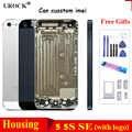 למעלה איכות עבור iPhone 5 5S 5 SE אחורי דיור סוללה כיסוי דלת מארז מסגרת חזרה כיסוי + סוללה מדבקה + כלים יכול מותאם אישית IMEI