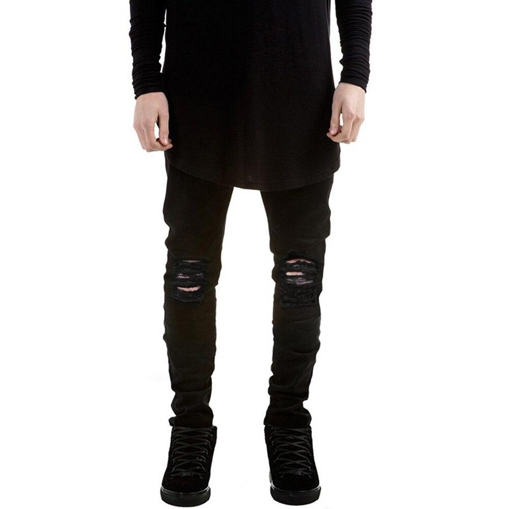 Mens Fashion Jeans Slim Fit Denim Casual Skinny Ripped Long Pants ...