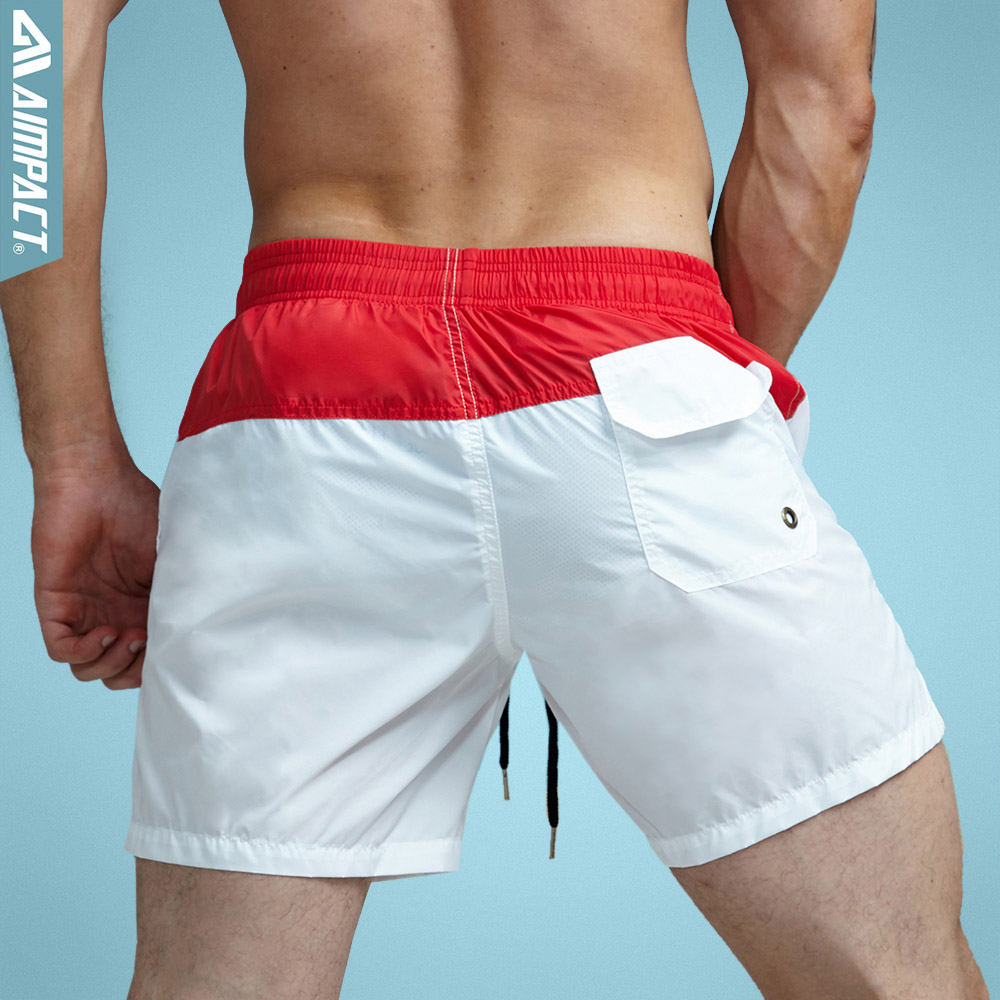 Aimpact Fashion Summer Sexy Beach Men's Shorts Leisure Lining Liner Men Board Shorts Patchwork Fast Dry Elastic Waist Short DT62