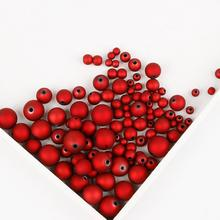 6 мм/8 мм/10 мм/12 мм/14 мм/16 мм Черный Красный Цвет Акриловые Бусины матовые свободные бусины для DIY ручной работы браслет ожерелье Изготовление ювелирных изделий