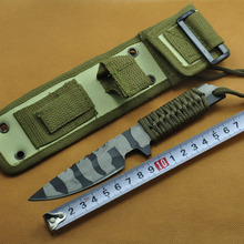Combat Tactical Knife Camping knife Survival knife hunting knife with Nylon Sheath Fixed Blade