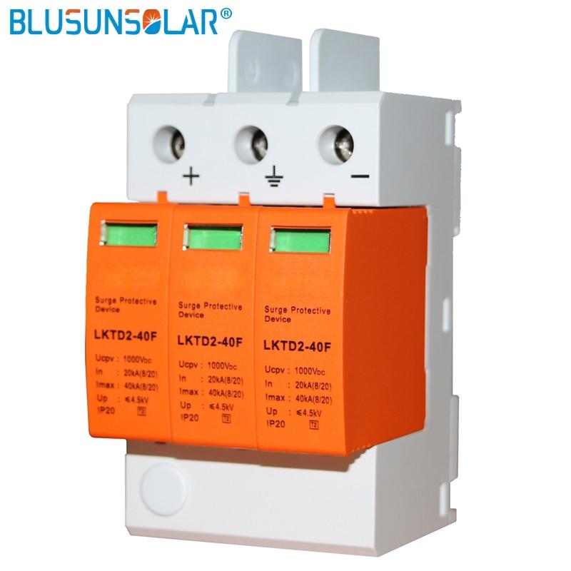 1pec CE Aprovado 3 p DC1000V SPD Dispositivo Protetor Contra Surtos/DC sinal de Supressores de Surtos com controle remoto