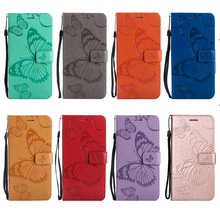 купить 3d butterfly embossed leather case flip wallet Stand Cover For Motorola Moto G4 Play Z Force G2 G4 G5 G5S Plus E4 Plus E5 G6PLUS дешево