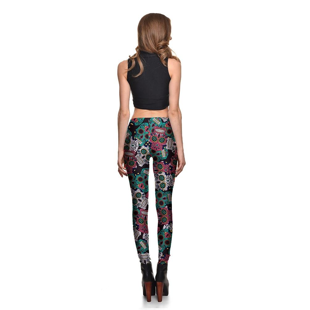 7999592705e87 JIGERJOGER 2017 Skinny Leggings Multi color skull digital printing Girls  sweatpants Women s plus size Halloween holiday leggings-in Running Pants  from ...