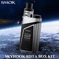 Electronic Cigarette Vape Box Mod E cigarette Vaporizer SMOK SKYHOOK RDTA BOX Kit 220W Mechanical Mod RDTA Built In Tank X1086