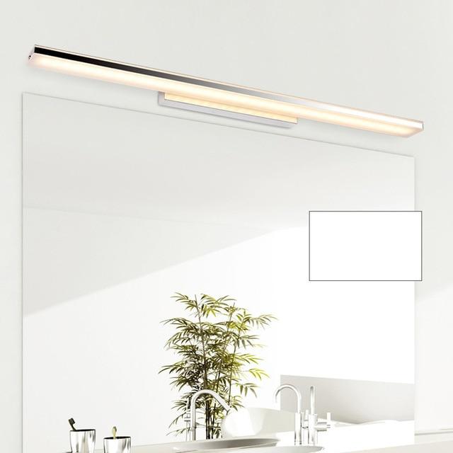 Modern 100cm Long Aluminum Bathroom Mirror Light Luminaria 85 265V 24W Led Home Decor Lamp