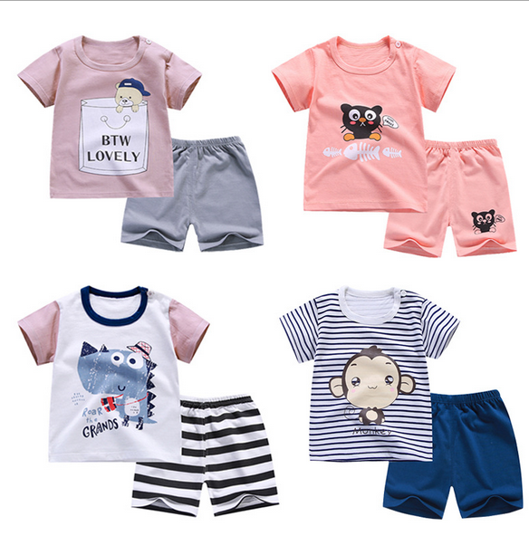 Designer Baby Boy Clothes Sport Clothing Tracksuit Active  Striped Tshirt +shorts Toddler Clothing Sets