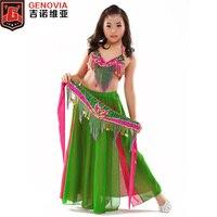 K868 Kids Girls Belly Dance Costume Top Belt Skirt 3 Colors